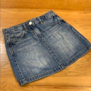 Crewcuts Girls Faded Jean Skirt Size 7-8 😊